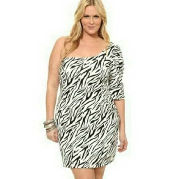 torrid Dresses | Plus Size Dress Dress One Shoulder Bodycon | Poshmark